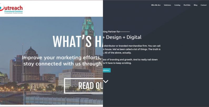 Outreach Promotional Solutions Website Redesign